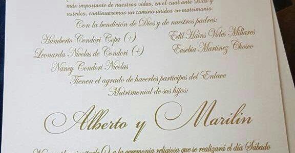 La invitación matrimonial más viral en Tarija