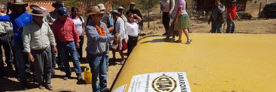 1000 familias tarijeñas son beneficiadas con riego tecnificado